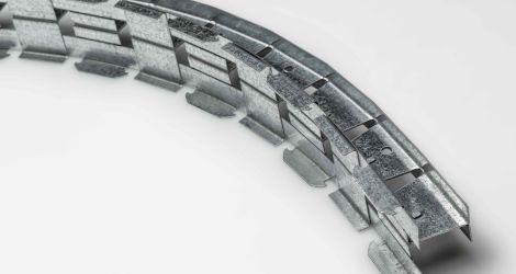 Guida Clip Flex per controsoffitti per sistema con bordo arrotondato (45X60) Sp. 7_10