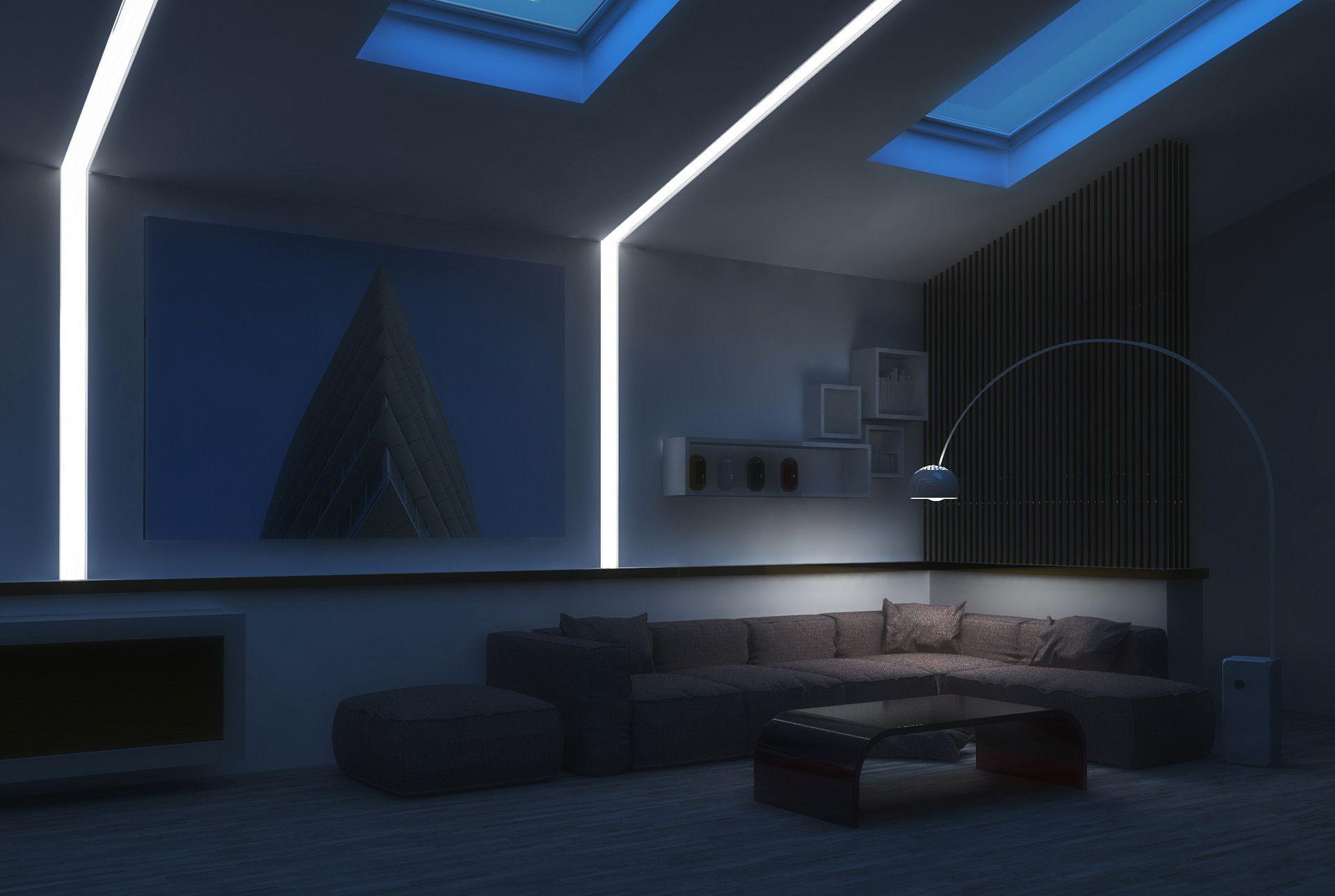 Cornici per illuminazione indiretta eleni lighting news - Esempi di illuminazione a led per interni ...